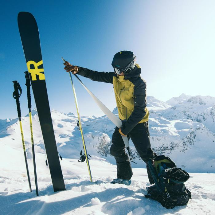 Skistokken voor volwassenen freeride/toerskiën Samurai 950 Light geel