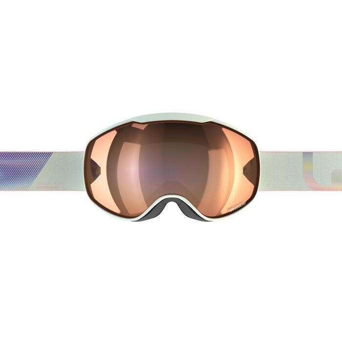Ski- en snowboardbril voor meisjes en dames G 540 mooi weer blauw