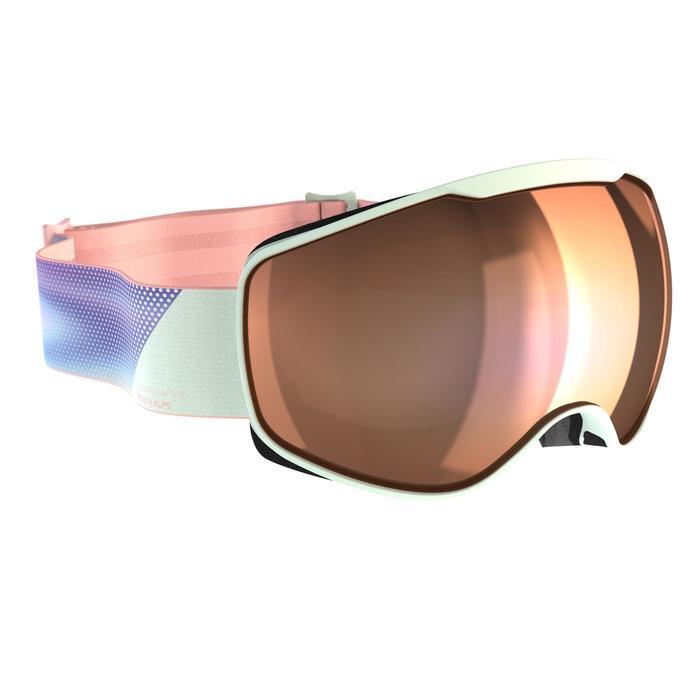 Ski- en snowboardbril voor meisjes en dames G 900 mooi weer blauw