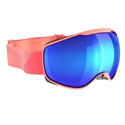 Ski- en snowboardbril dames en meisjes G 540 zonnig weer roze