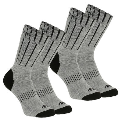 Adult Mid warm hiking socks warm SH100 - Grey.