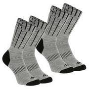Sive srednje visoke pohodniške nogavice SH100