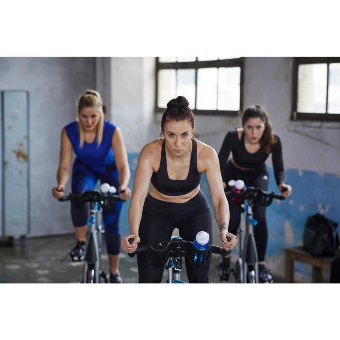 Legging 7/8 fitness cardio-training femme à imprimés bleus 900