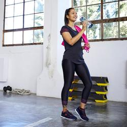 Fitnessschuhe Fitness Cardio 500 Damen blau/koralle