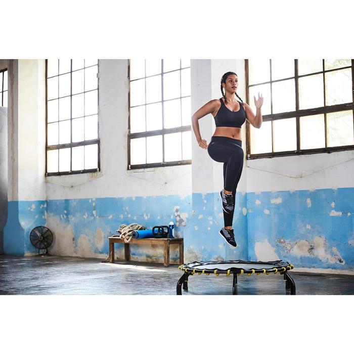 500 Women's Cardio Fitness Full Cup Sports Bra - Black