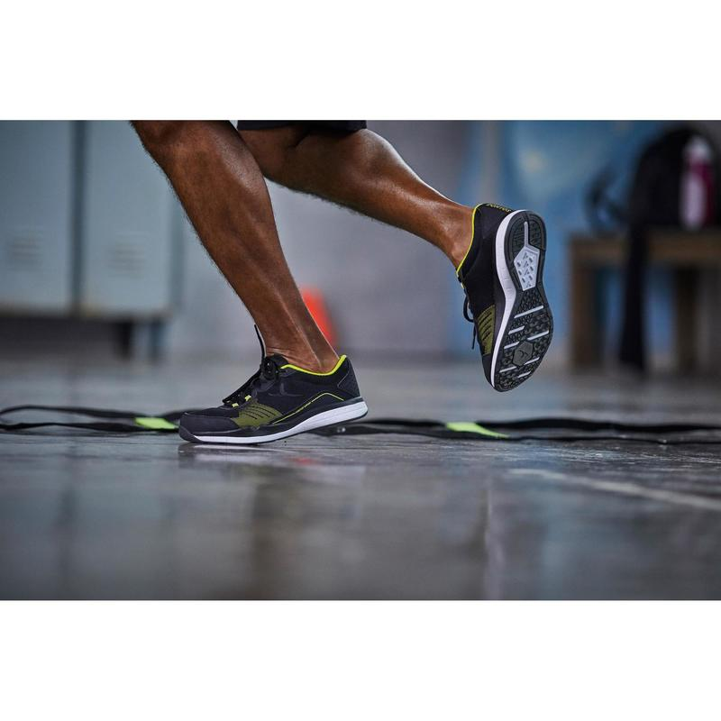 2ad9303b833 Pánská obuv na fitness 500 černo-žlutá