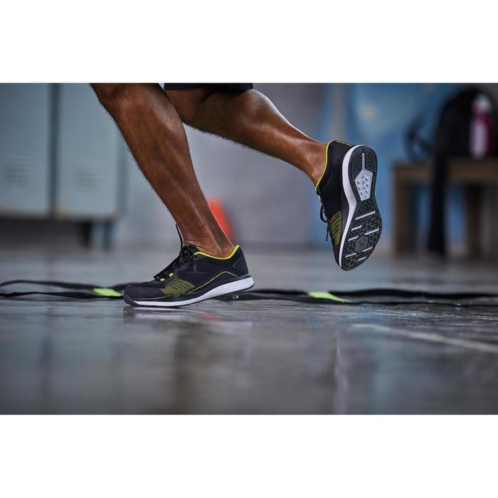 Zapatillas fitness cardio-training 500 hombre Negro y Amarillo