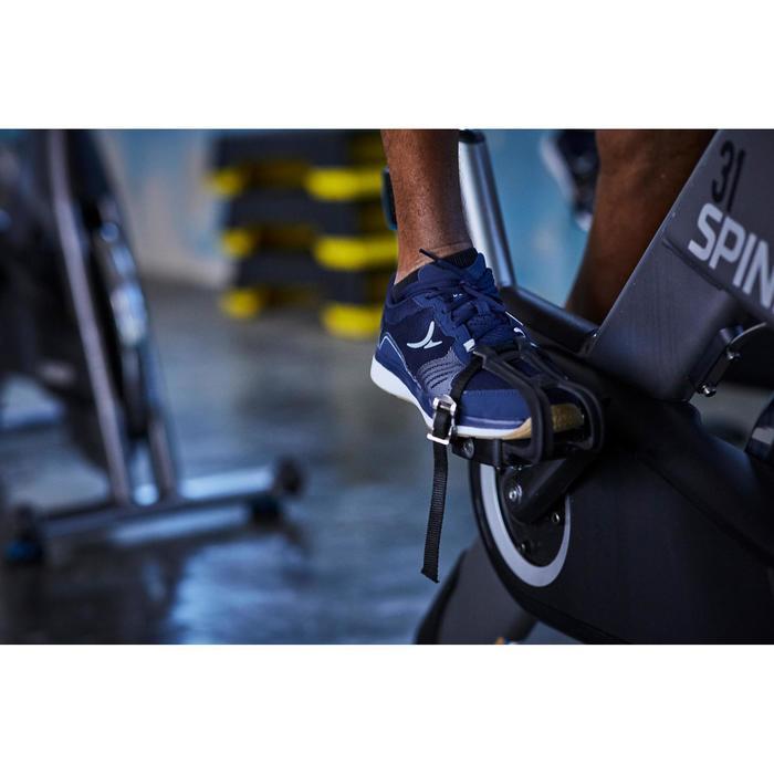 Chaussures fitness cardio-training 500 homme bleu et gris