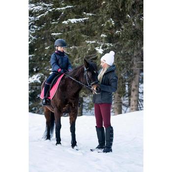 Winter-Reitstiefel mit Klettverschluss Erwachsene schwarz