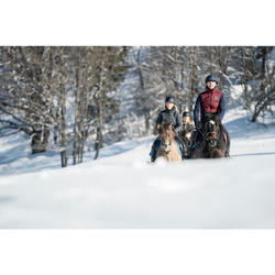 Chaleco cálido equitación hombre 500 WARM burdeos