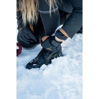 Winter-Reitstiefeletten 500 warm geschnürt Erwachsene schwarz