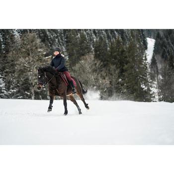 Pantalón cálido equitación niño ACCESSY burdeos