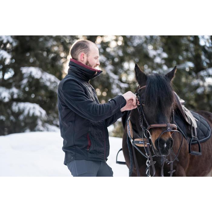 Polaire équitation homme 500 noir/bordeaux
