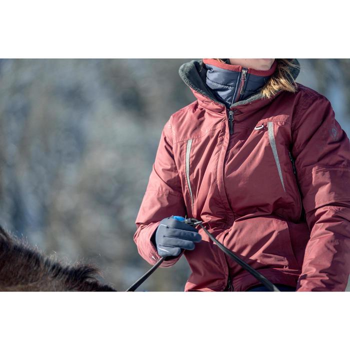 Veste chaude et imperméable équitation femme TOSCA bordeaux