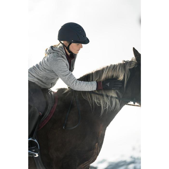 Polaire à capuche 2en1 équitation femme gris