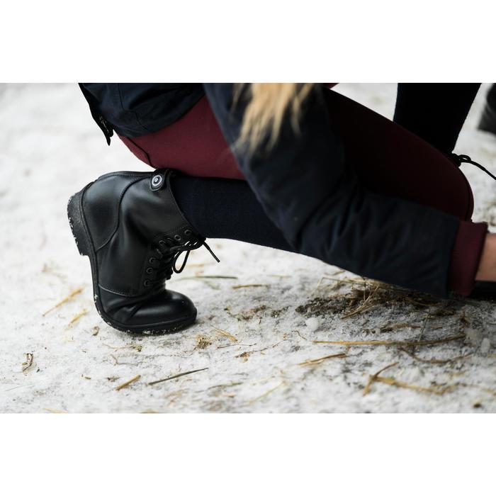 Winter-Reitstiefeletten 500 Erwachsene geschnürt schwarz