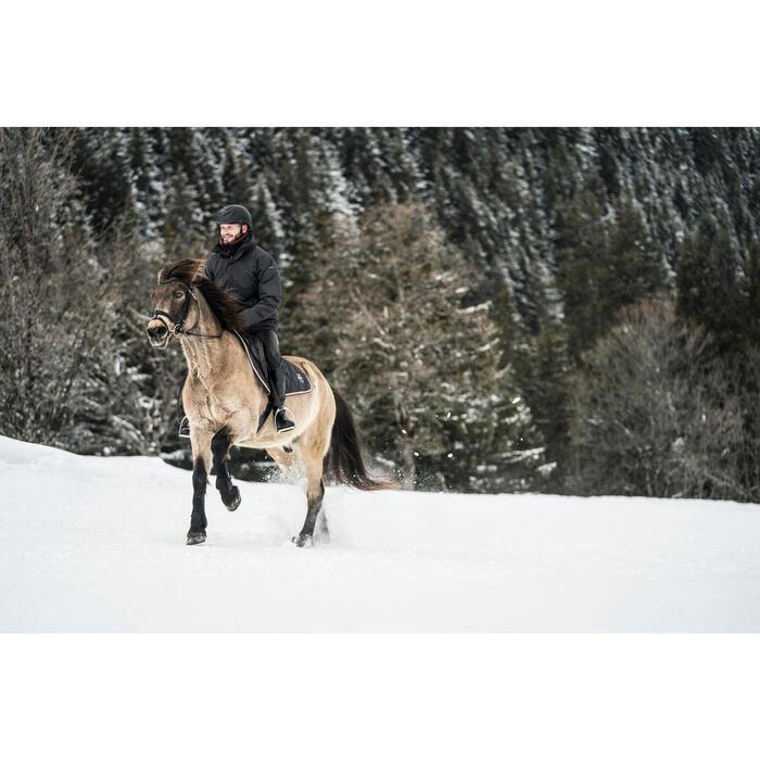 Tapis de selle équitation cheval et poney 500 gris anthracite