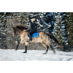 Tapis de selle équitation cheval et poney 500 bleu électrique