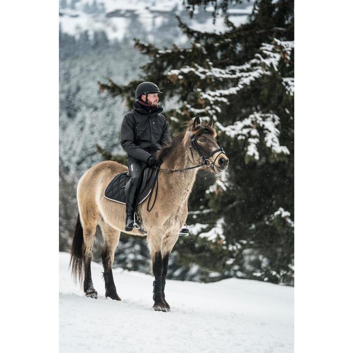 Cazadora cálida e impermeable equitación hombre 500 WARM gris