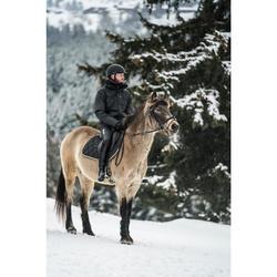 Winter-Reitjacke 500 Wasserdicht Herren grau