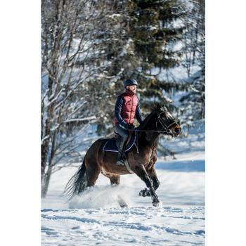 Chaleco Equitación Fouganza 500 Warm Hombre Burdeos Cálido Acolchado de Guata