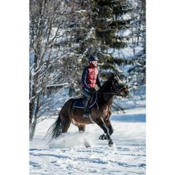 Winter-Reitweste 500 Warm Herren bordeaux