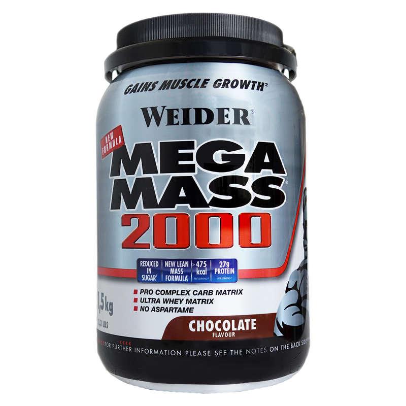 PROTEINS AND SUPPLEMENTS - super mass 2000 protein shake 1.5kg - chocolate  WEIDER