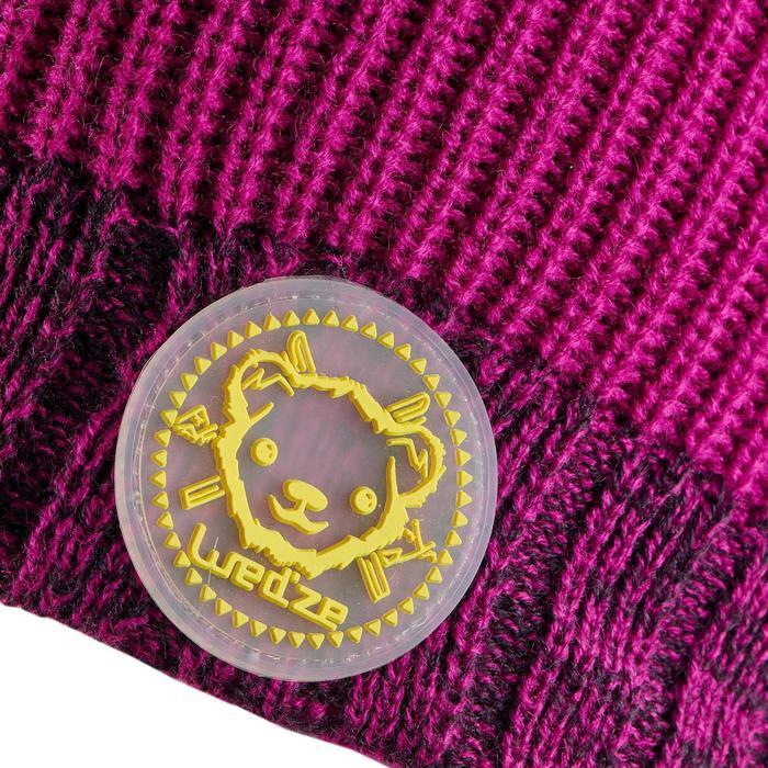 Skimütze Bären violett rosa