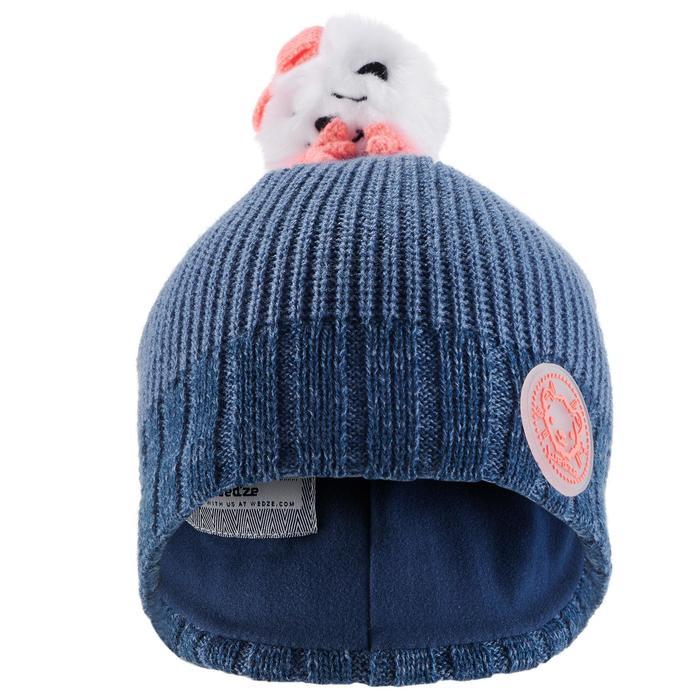 孩童小熊滑雪帽 - 軍藍色