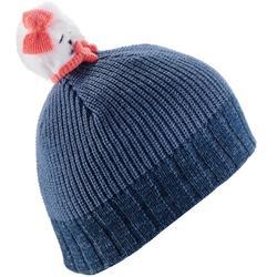 CHILDREN'S BEAR SKI HAT - NAVY BLUE.