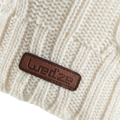 CHILDREN'S CABLE KNIT SKIING ECRU