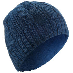 JR CABLE KNIT SKI HAT - NAVY