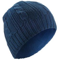 Skimütze Zöpfe Kinder marineblau