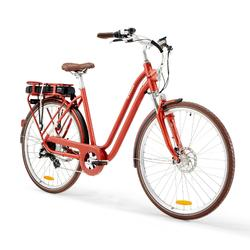 "E-Bike City Bike 28"" Elops 900E LF Damen ziegelrot"