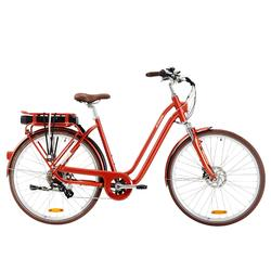 "E-Bike City Bike 28"" Elops 900 LF tiefer Einstieg rot"