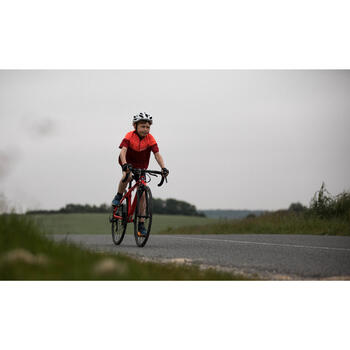 Maillot manches courtes vélo enfant 500 rouge