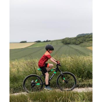Cuissard sans bretelle vélo enfant 500 noir/rouge - 1504612
