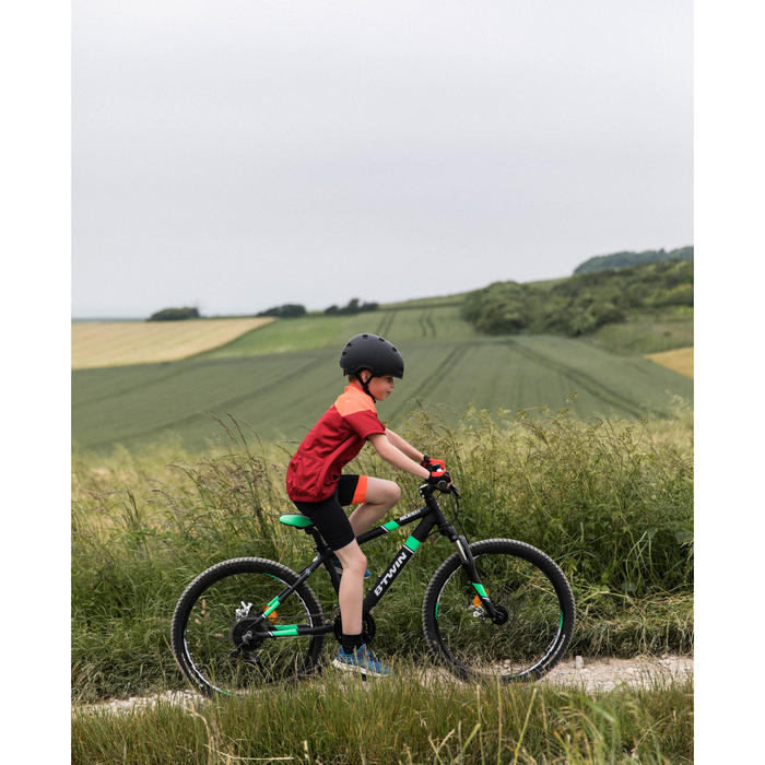 Kurze Radhose Rennrad 500 Kinder schwarz/rot