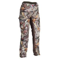 Warme damesbroek voor de jacht camouflage 500
