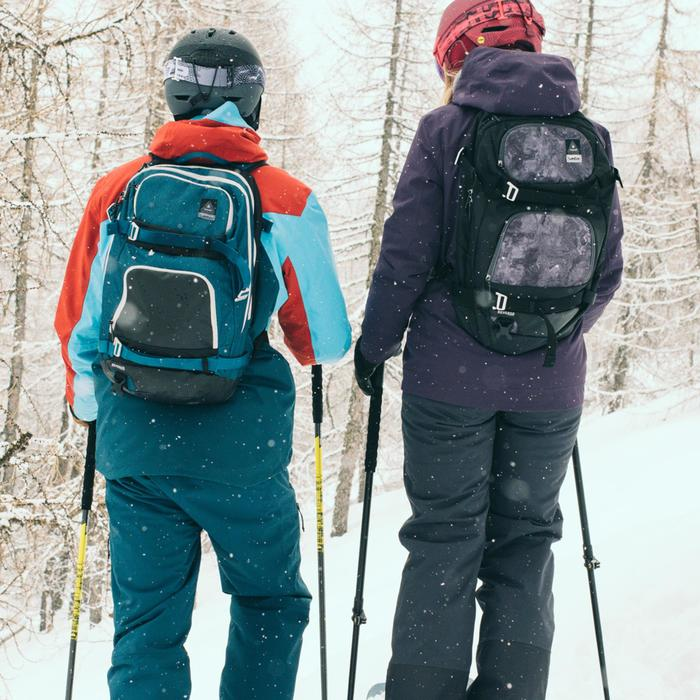 Veste de ski freeride homme free 700 rouge bleue