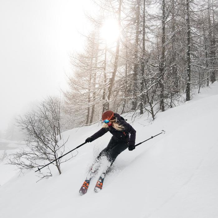 Ski- en snowboardjas voor dames Free 500 paars