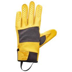 Sicherungshandschuhe Leder Bigwall gelb