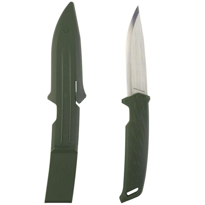 Messer Sika 100 mit feststehender Klinge grün