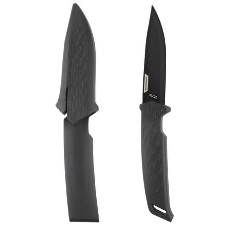 Sika 100 Grip Fixed-Blade Knife Black