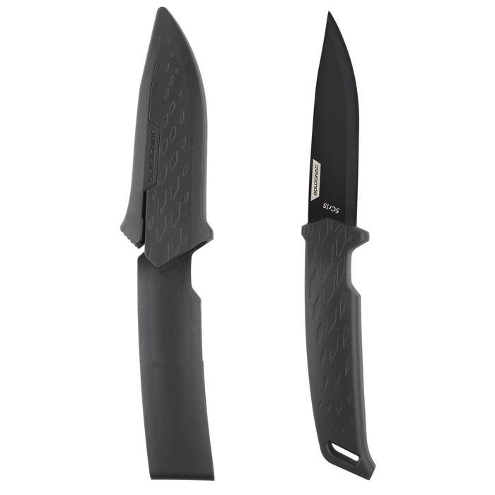 Messer Sika 100 Grip mit feststehender Klinge schwarz