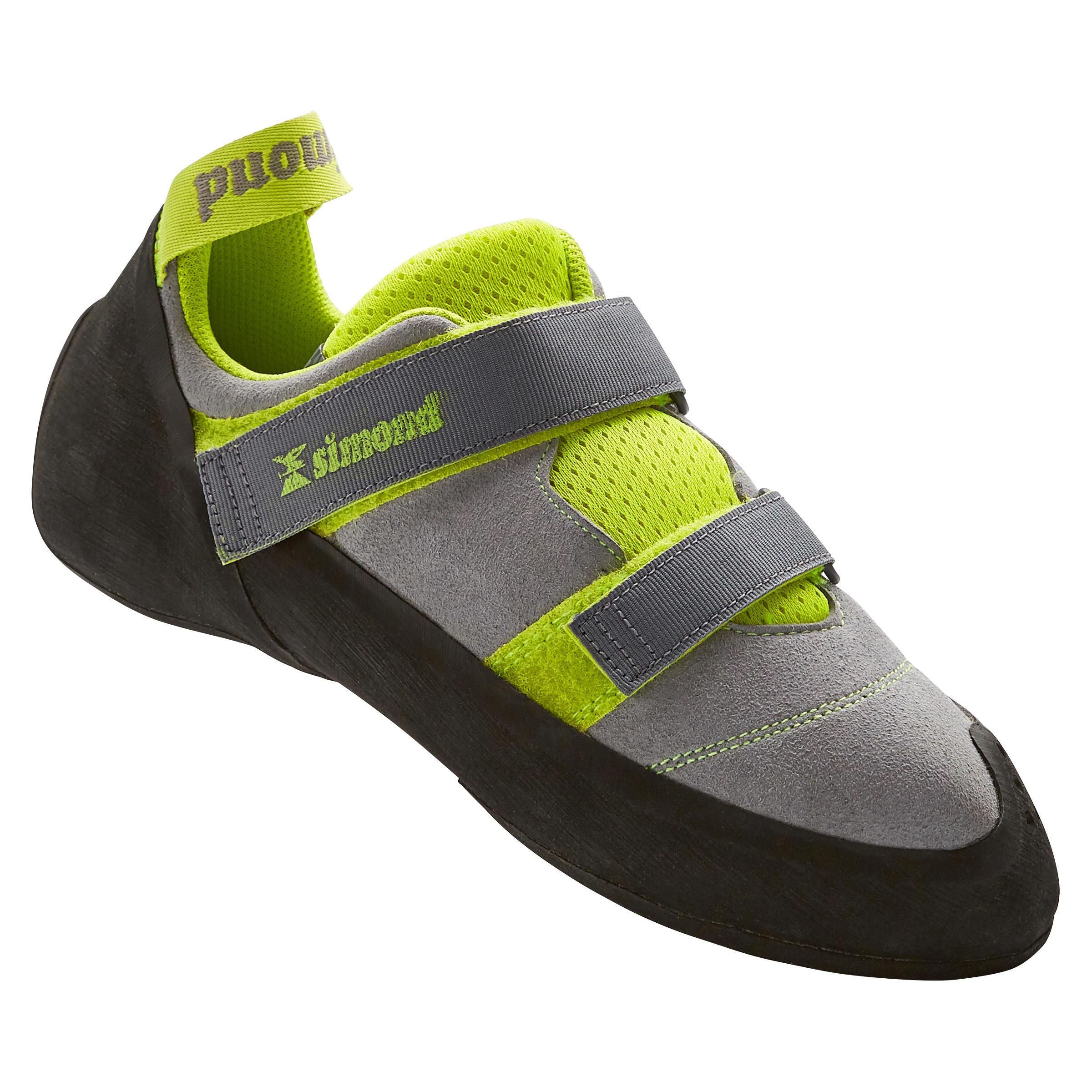 Kletterschuhe Rock+ Erwachsene grau | Schuhe > Outdoorschuhe > Kletterschuhe | Grau - Grün | Simond