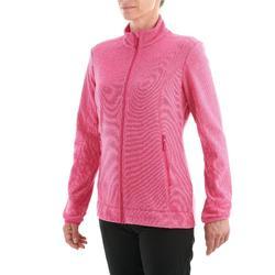 女款登山健行刷毛外套MH120-粉紅色