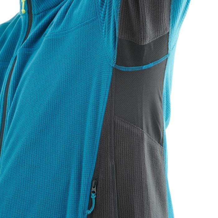 MH520男式登山健行刷毛外套-黑色