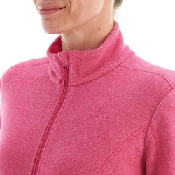 Women's MH120 Pink mountain hiking fleece jacket