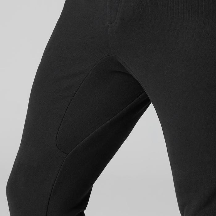 Herenbroek voor zachte gym en pilates 500 Skinny met rits zwart
